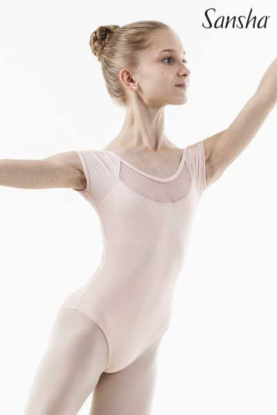 Sansha short-sleeved leotard LIZIANE 51AE0004MN