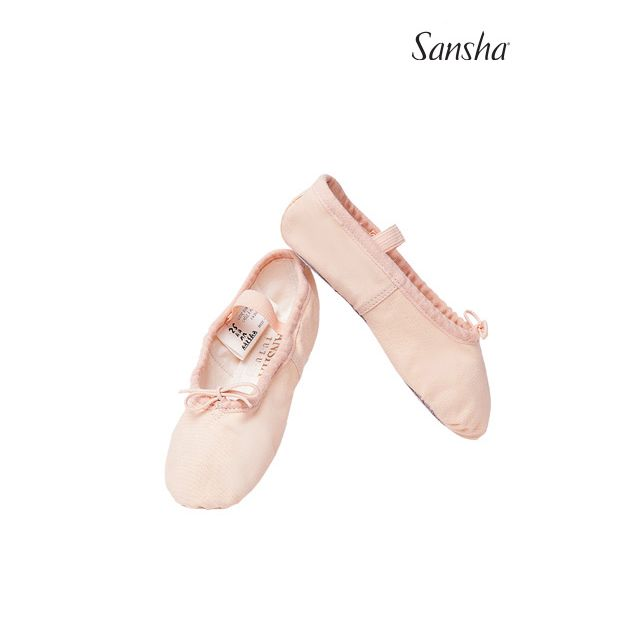 4C TUTU Dětské baletní piškoty s podrážkou vcelku