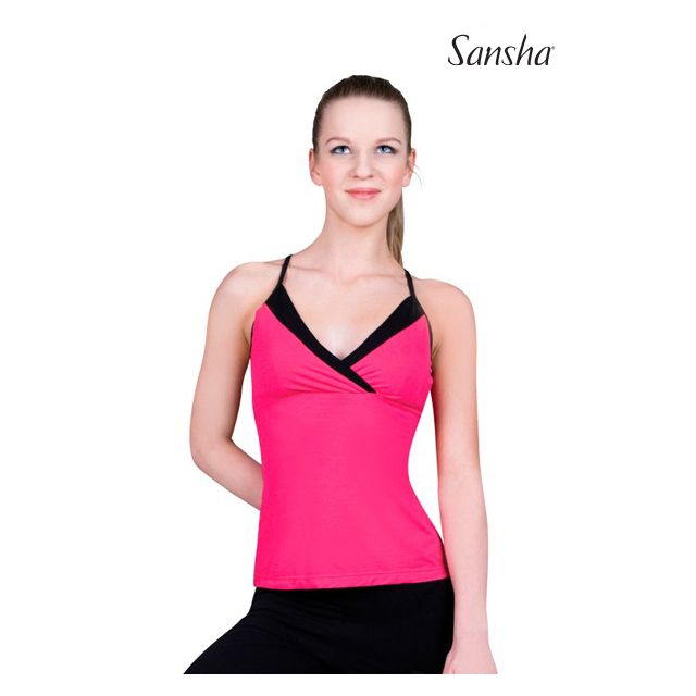 Sansha duotone camisole top PENNY PL1002R
