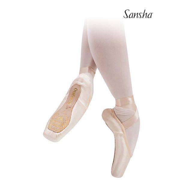 Sansha Medium 2/3 shank Pointe Shoes OVATION 606S
