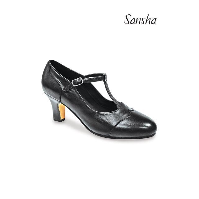 Sansha Thin T-bar character shoe RHINE CL55Lco