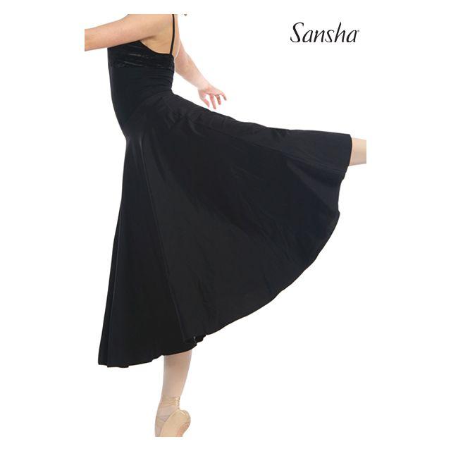 Sansha Long flowing pull-on skirt KATYA D0812N