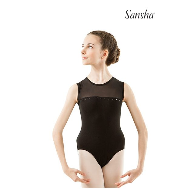Sansha girls sleeveless leotard FEDERICA Y2538C