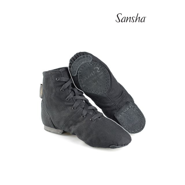 Sansha split sole lace-up jazz boots SOHO JB3C