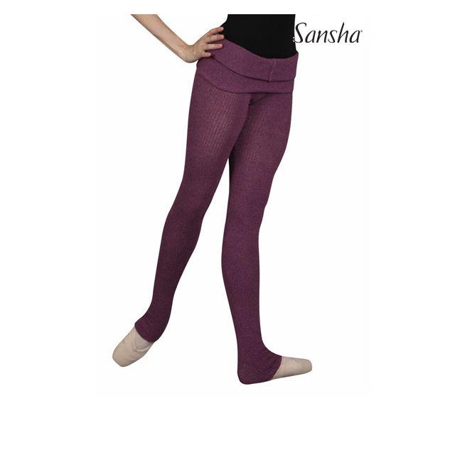 Sansha Ribbed tights PEONY KS010