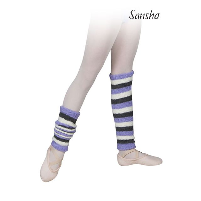 Sansha girls leg warmers stripes MALIE KT060P