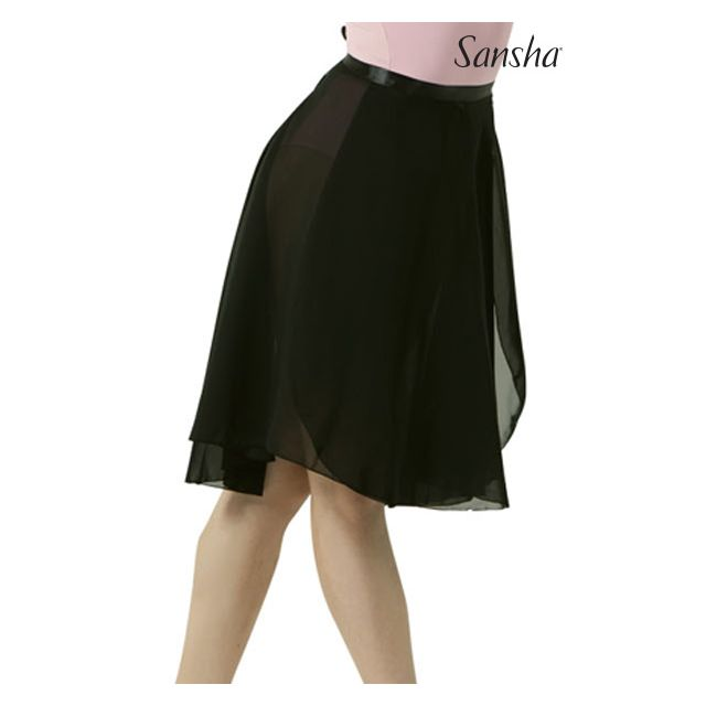 Sansha medium length wrap skirt ALINE L0906CH