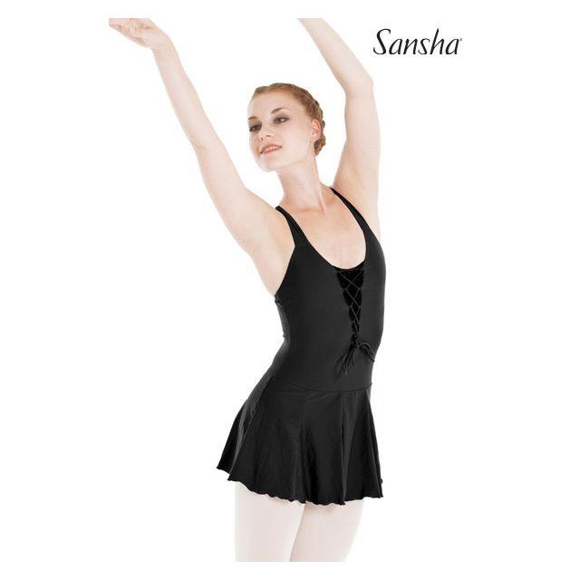 L7706T THANITA Dámský trikot na široká ramínka s našitou sukní