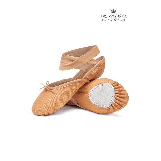 21C PARIS Split sole canvas ballet slipper