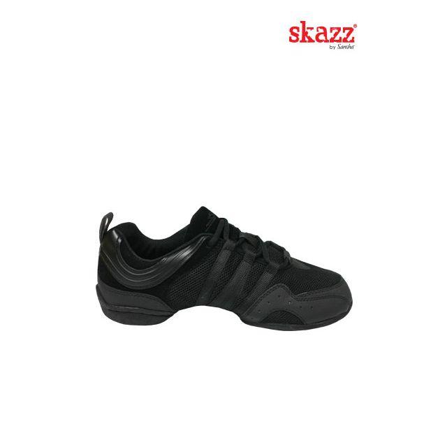 Sansha Skazz sneakers suede sole SOLO NERO S22M