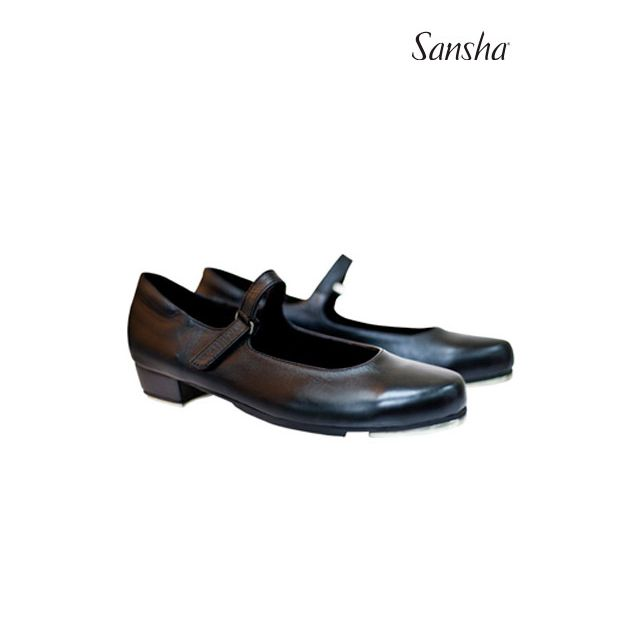 Sansha Leather tap velcro closing T-SONIA TA905L