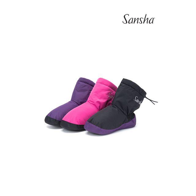 Sansha booties suede sole LOGO FINLANDIA WOOM-2N