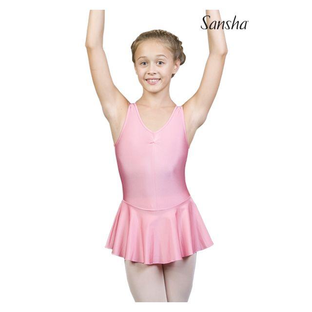 Sansha tank leotard attached skirt IDELLE XY2706N