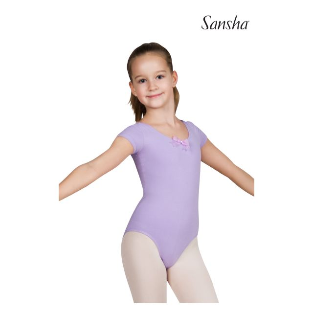 Sansha girls short sleeve leotard FAUSTINA Y3517C