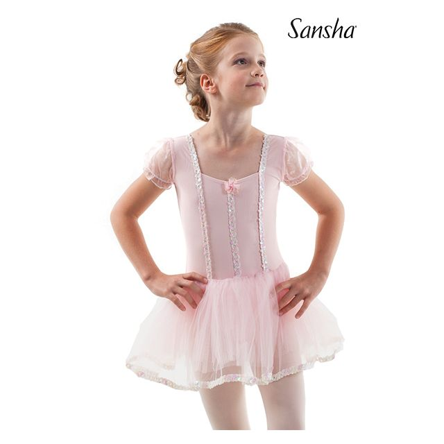 Sansha short sleeve tutu dress FIDELITY Y3801N